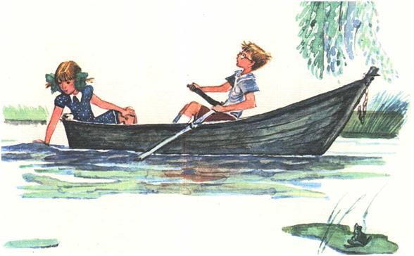 в лодку сели моряки